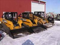 2 John Deere CT322 Track Skid loaders both run and work