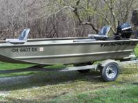2008 14-ft Tracker outboard fishing boat. Comes with a