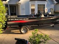 Selling 2013 bass tracker boat with trailer, fish
