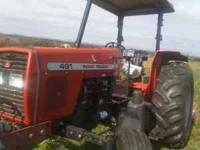 TRACTOR MF491 LIKE NEW 2X2 410 HOURS CALL  WONT BE HERE