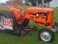 Allis chalmers tractor w/ 5 ft swath woods belly mower