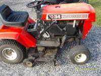 "MTD tractor 10HP 34"" cut,3 speed $150 call  Location:"