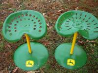 "I have 2 tractor seat stools that are about 24"" tall"