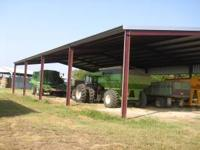 New 50x100x15 tractor shed or hay barn.Just like the