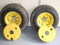 Tractor tires and weights 23x10.50-12 call or email