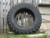 3 different size tractor tires for your garden, front
