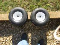 2 Tractor Tires (Front) Mounted Size 15x6.00-6 2 Ply
