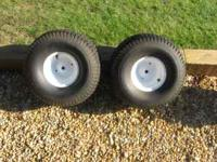 2 Tractor Tires (Rear) mounted Size 20x10.00.8 2 Ply