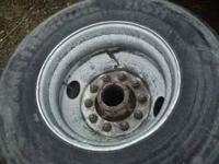 For sale is two tires with rims for a tractor trailer.