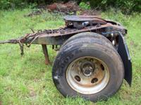 This is a used converter/dolly for Road Tractor