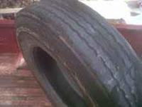 I have one 11r24.5 Dynatrac PD880 tire. Approx 3/8 inch