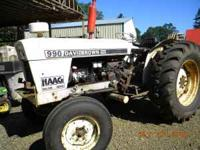 "David Brown tractor, 57 hp 2wd, huge 72"" bucket, new"
