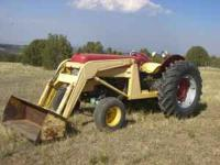 Massey Ferguson model 85 with MF #32 Loader. Approx. 60