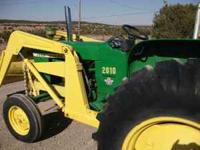 John Deere model 2010 diesel, 45 hp 8 forward speeds,