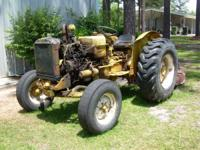 1960 ? International desel tractor with mower deck,