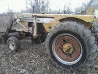 Super 670 Mineapolis Moline with front end loader runs