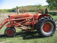 Allis Chalmbers Tractor WD with loader, good and solid.