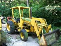 Tractors for sale. MF 30b with loader. Runs good needs