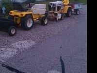 PACKAGE INCLUDES: 2 TRACTORS(1650,AND 129) CUB CADET