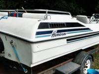 21foot 15 passenger deck boat trade for Harley Davidson