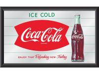 This officially licensed Coca-Cola wall mirror is the