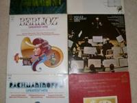 A collection of 6 Symphonic music Vinyl LP's. Done in
