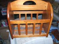 This is a gorgeous traditional wood magazine rack