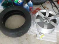 tire and wheel are in great condition. also incudes