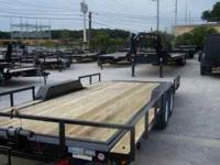 20ft tilt trailer--16ft gravity tilt + 4ft stationary
