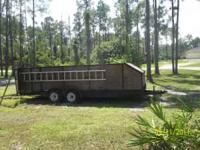 solid,heavy duty trailer--new coupler and jack,good