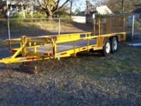 FOR SALE HEAVY DUTY MUNICIPAL TRAILER GREAT FOR