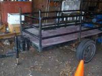 approx 3' X 8' Fold down gate Metal locking toolbox on