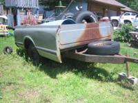 Pickup Box Trailer for sale good for hauling wood,