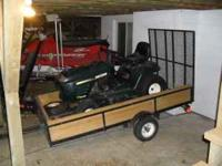 NICE 4 X 8 TRAILER WITH A 4' TAIL GATE RAMP. A GOOD