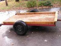up for sale 4 x 8 Utility Trailer Construction