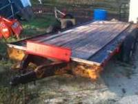 Nice equipment trailer new tires and boards. call