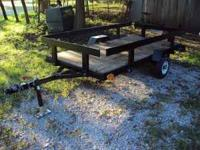We have a 4X8 utility trailer for sale. It has a new 2
