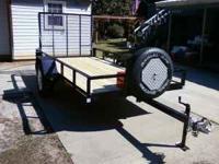 Custom built heavy duty utility trailer. The metal I
