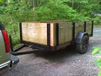 Excellent Home Built Trailer 9'X5' Bed Removable Stake