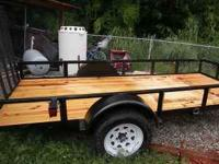 NICE SOUTHEAST METALS 5X12 FLATBED TRAILER 3500LB GVW,