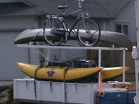 Built to hold our camp gear and more: Rack for kayaks,