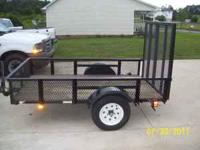 like brand new 5x8 trailer mesh floor and gate 13 inch