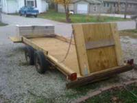 16' Double axle, utility trailer, new decking, new