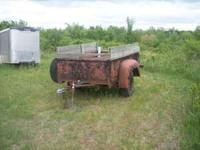 Heavy duty International bed trailer, will haul a very