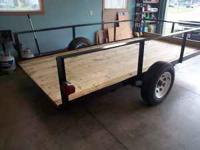 New Trailer (heavy duty) 2 Ft. high sides 2x12 Treated