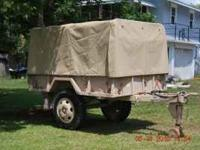 M105A X MILITARY TRAILER TRAILER 7 FEET WIDE AND 9.5