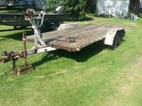 ave a flat bed trailer it was originally a boat