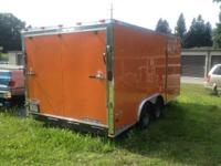 2013 16x8.5 v-nose trailer: double axle, electrical
