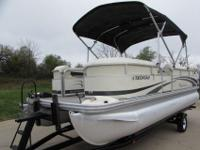 "Standard Features: 23"" tubes, 8' deck width, 75hp max,"