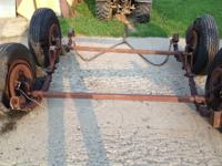 2 Trailer Axles. Heavy duty 6 lugs, With breaks, Three